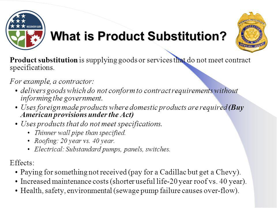 What is Product Substitution