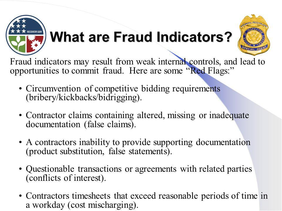 What are Fraud Indicators