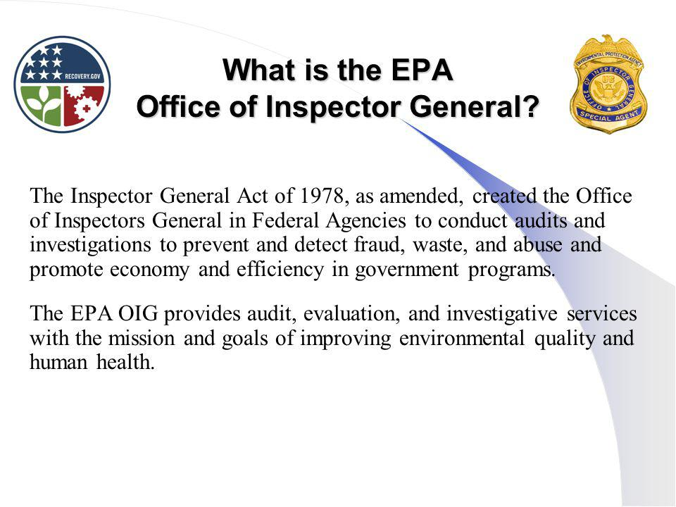 What is the EPA Office of Inspector General