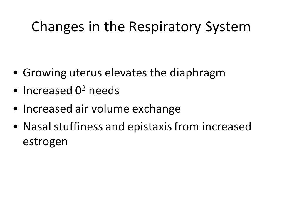 Changes in the Respiratory System