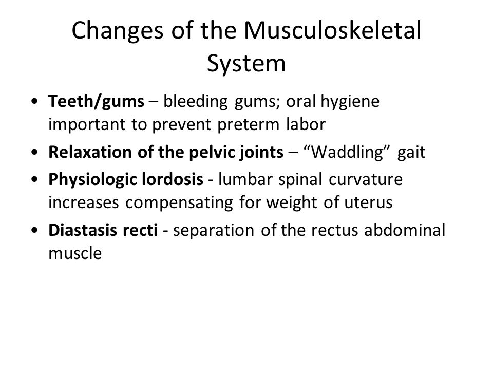 Changes of the Musculoskeletal System