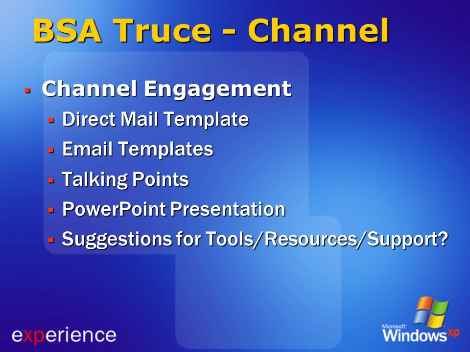 BSA Truce - Channel Channel Engagement Direct Mail Template