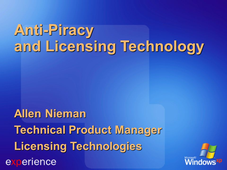 Anti-Piracy and Licensing Technology