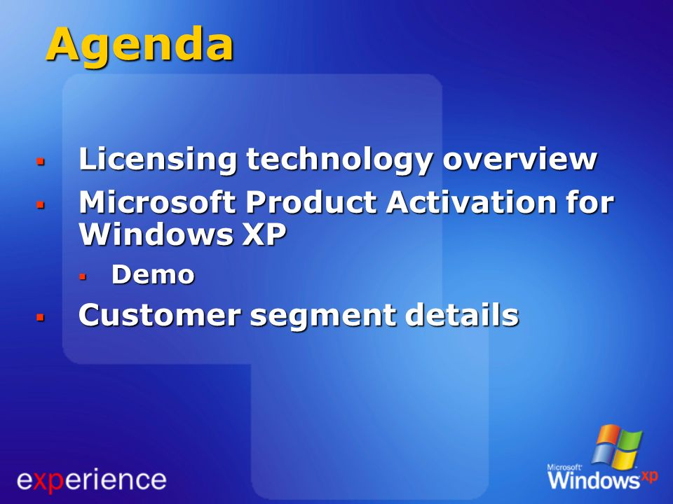 Agenda Licensing technology overview