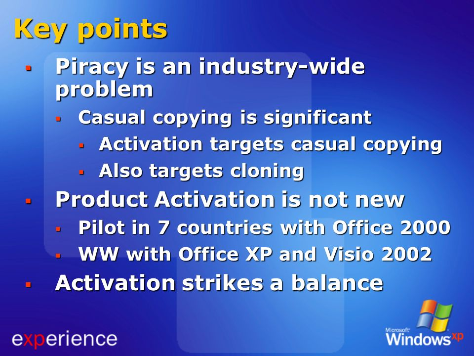 Key points Piracy is an industry-wide problem