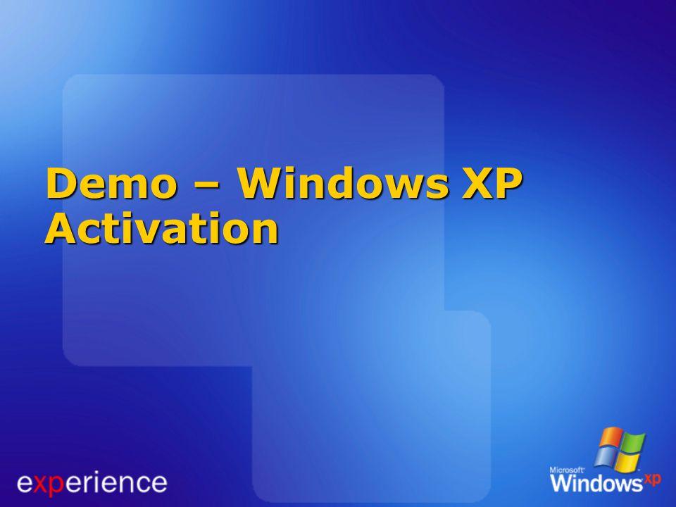 Demo – Windows XP Activation