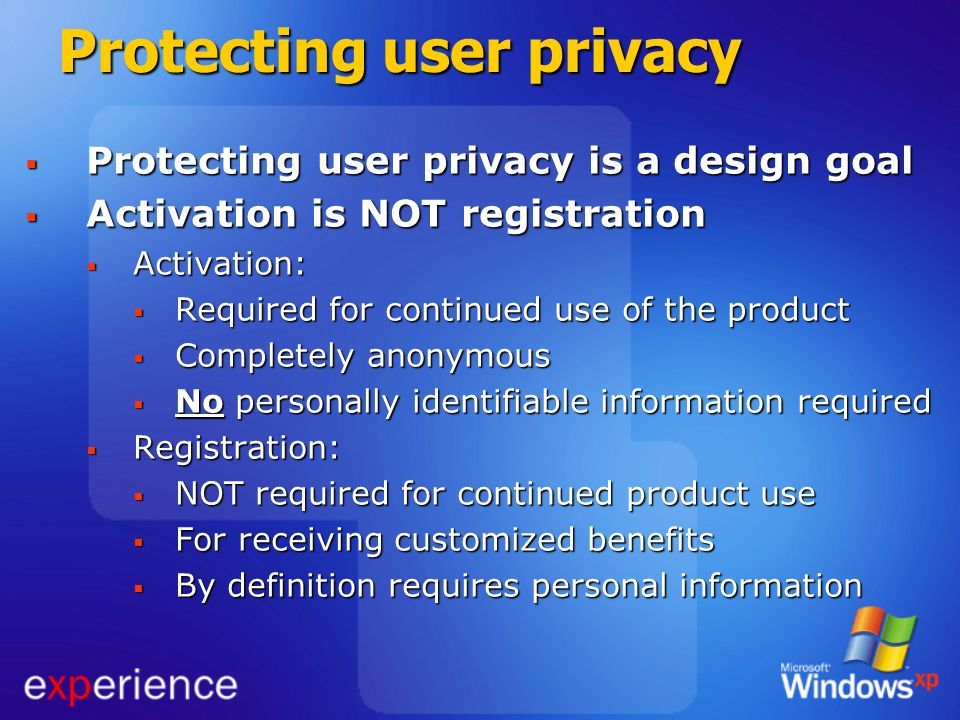 Protecting user privacy