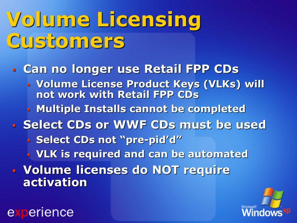 Volume Licensing Customers