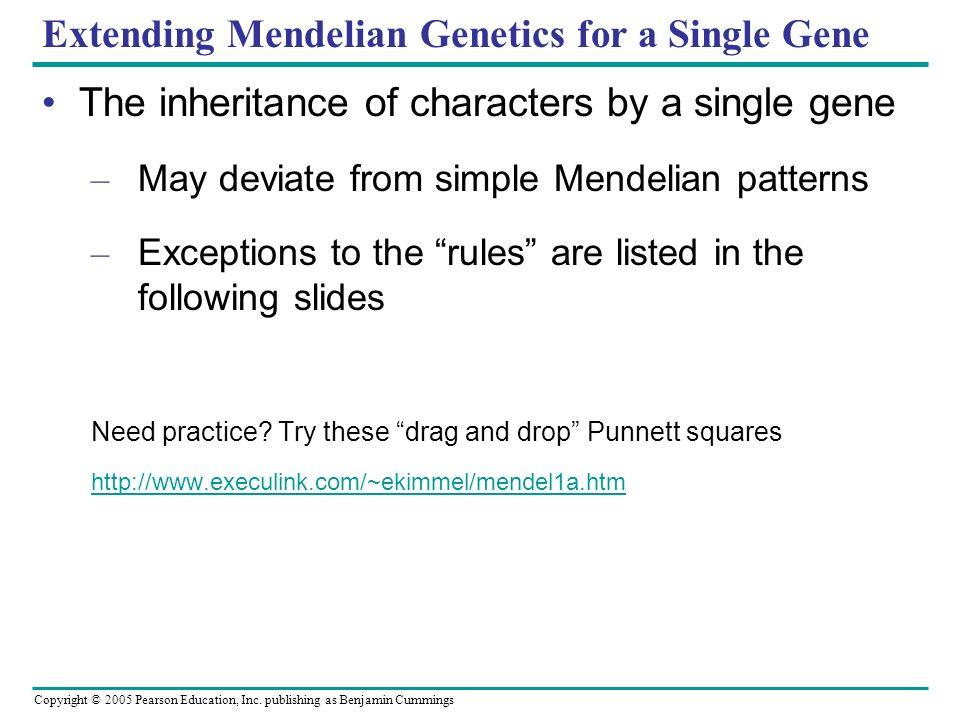 Extending Mendelian Genetics for a Single Gene