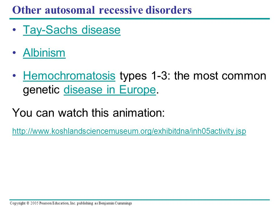 Other autosomal recessive disorders
