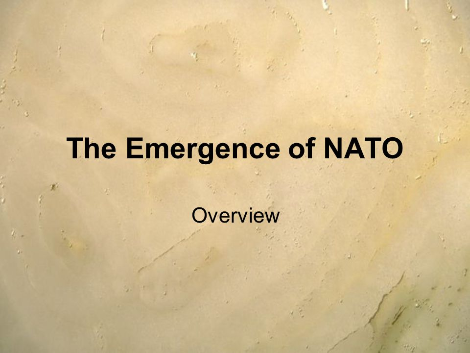 The Emergence of NATO Overview