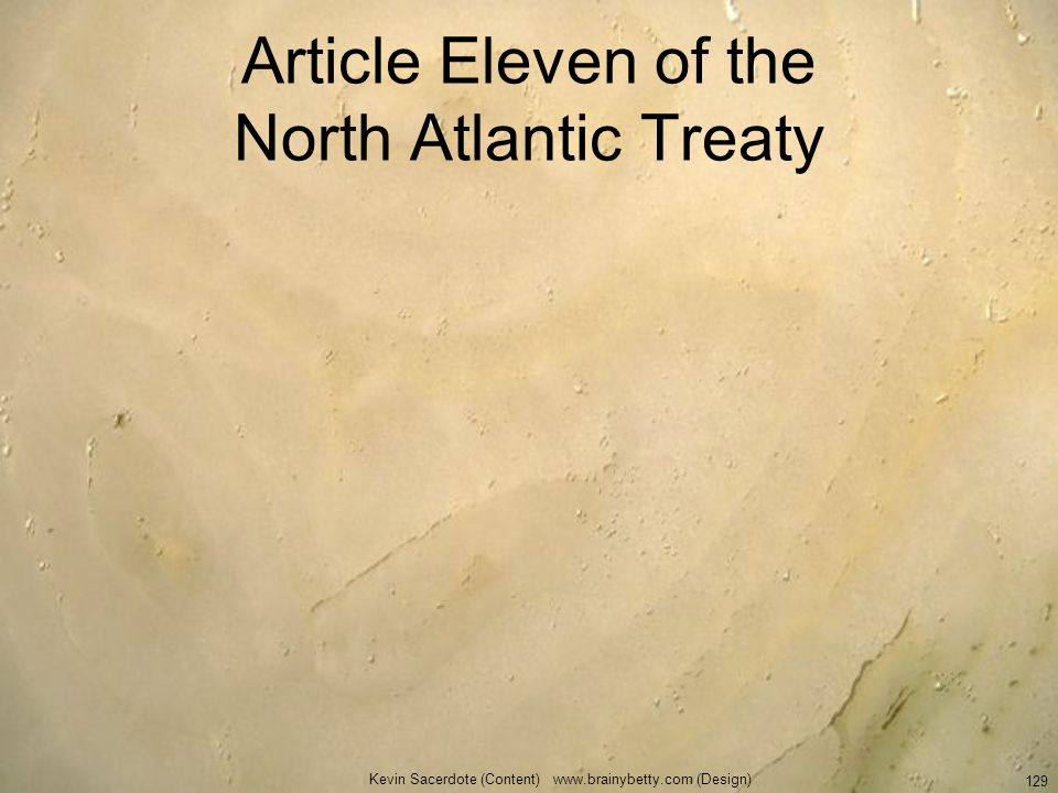 Article Eleven of the North Atlantic Treaty