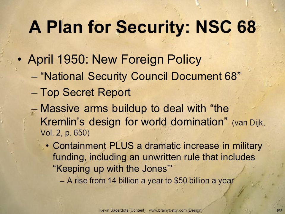 A Plan for Security: NSC 68