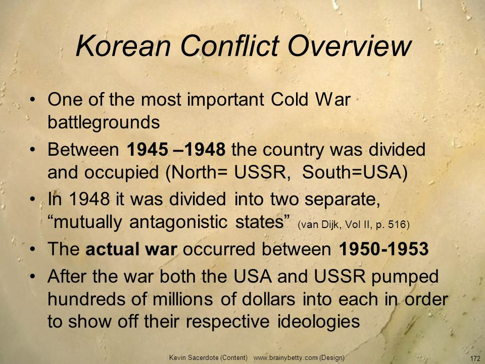 Korean Conflict Overview