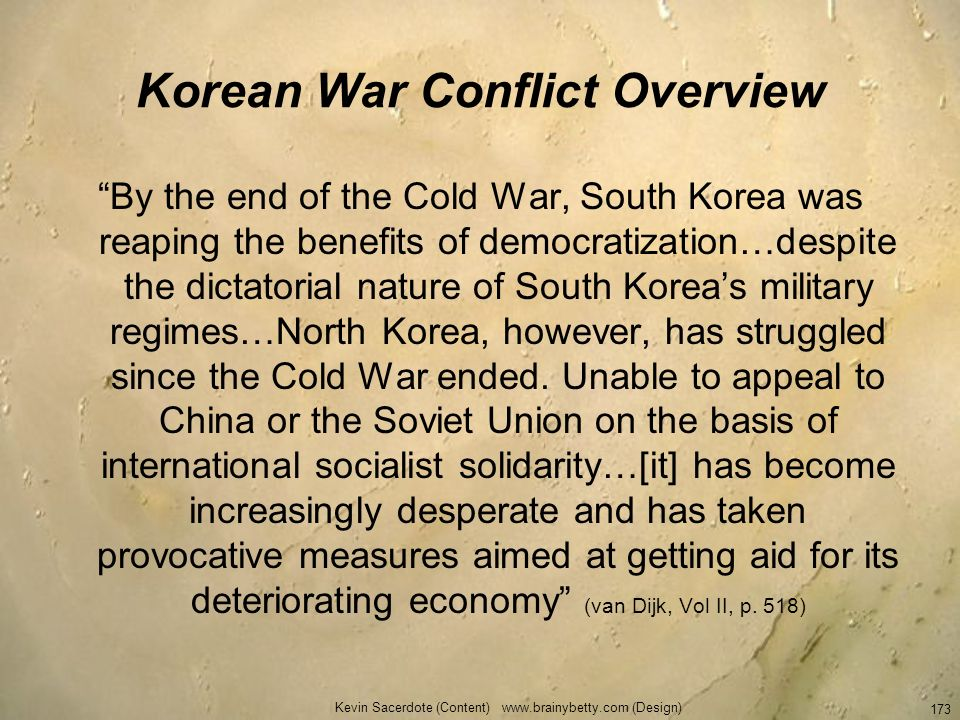Korean War Conflict Overview