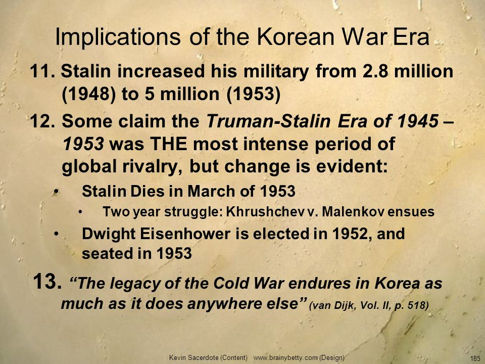 Implications of the Korean War Era