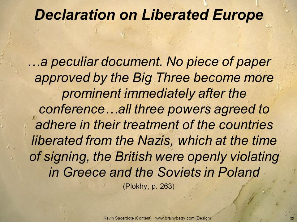 Declaration on Liberated Europe