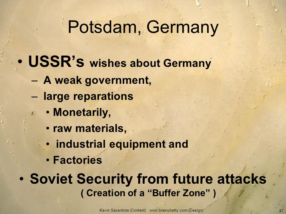 Soviet Security from future attacks ( Creation of a Buffer Zone )