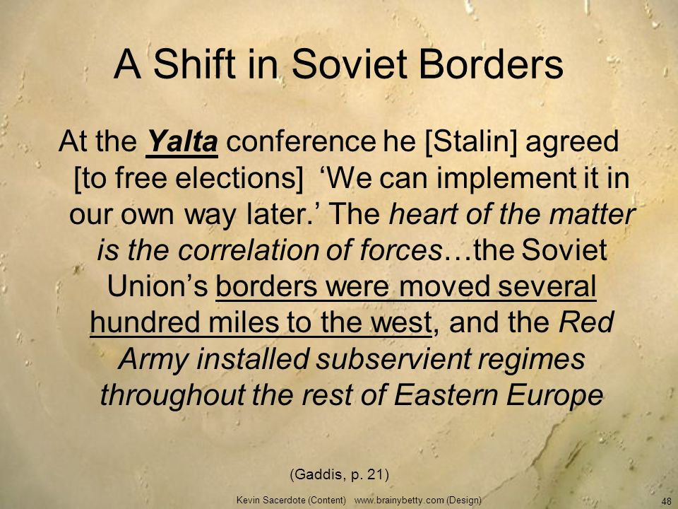 A Shift in Soviet Borders