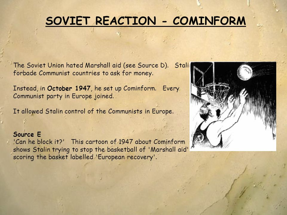 SOVIET REACTION - COMINFORM