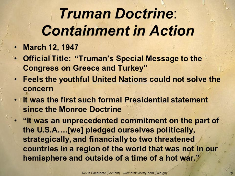 Truman Doctrine: Containment in Action