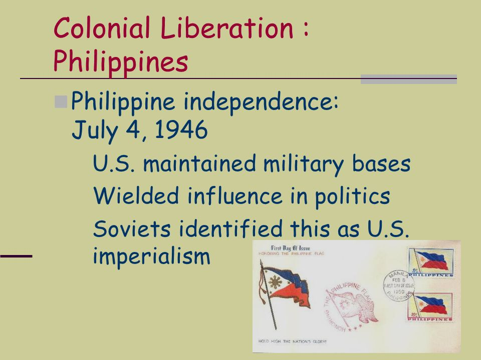 Colonial Liberation : Philippines