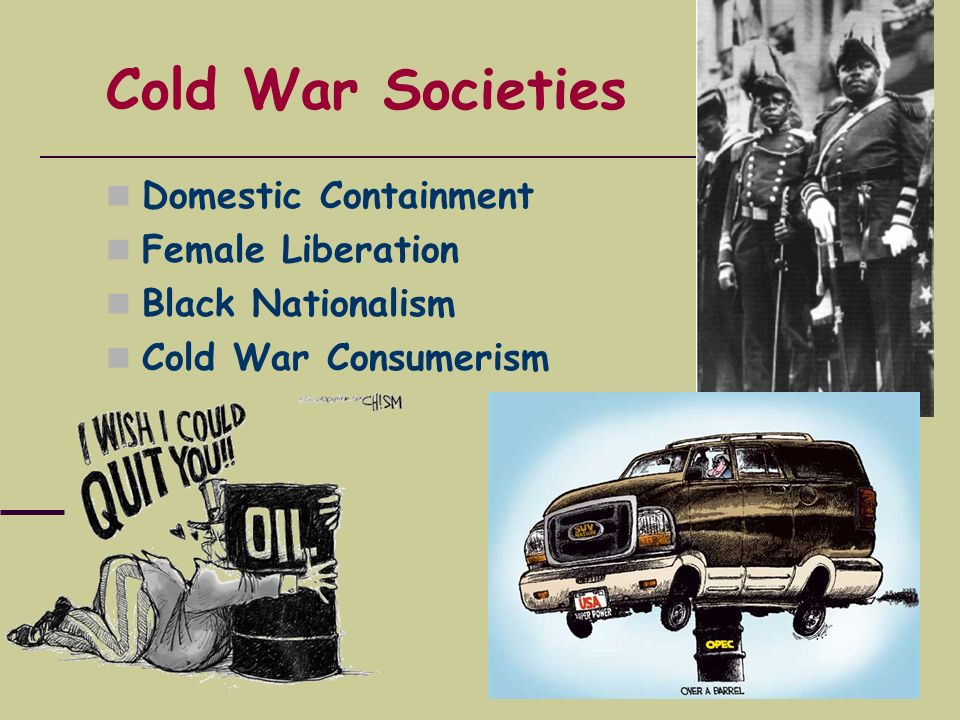 Cold War Societies Domestic Containment Female Liberation