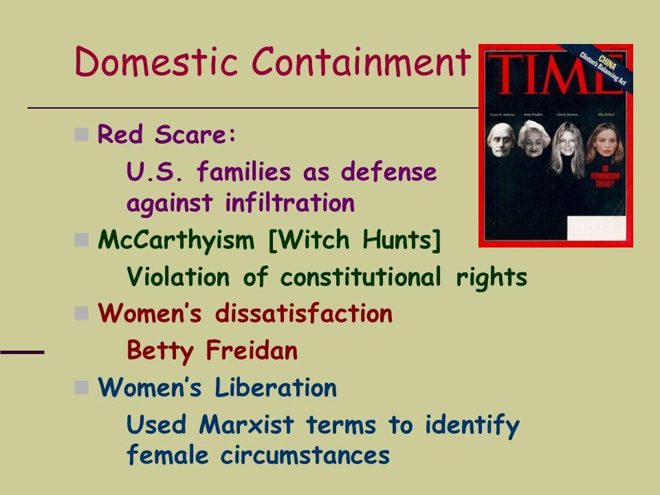 Domestic Containment Red Scare: