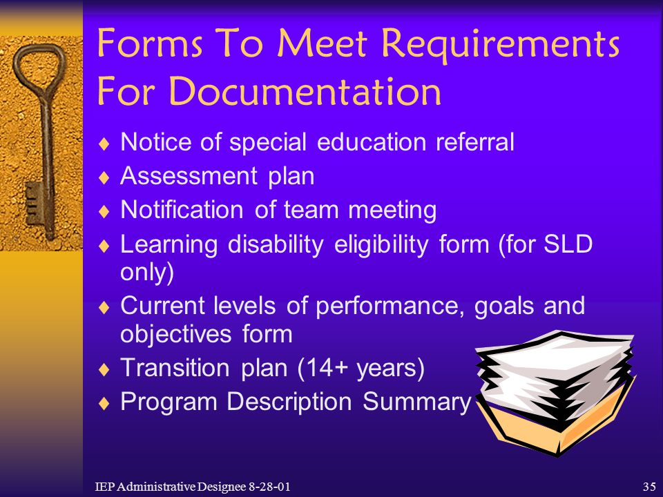 Forms To Meet Requirements For Documentation