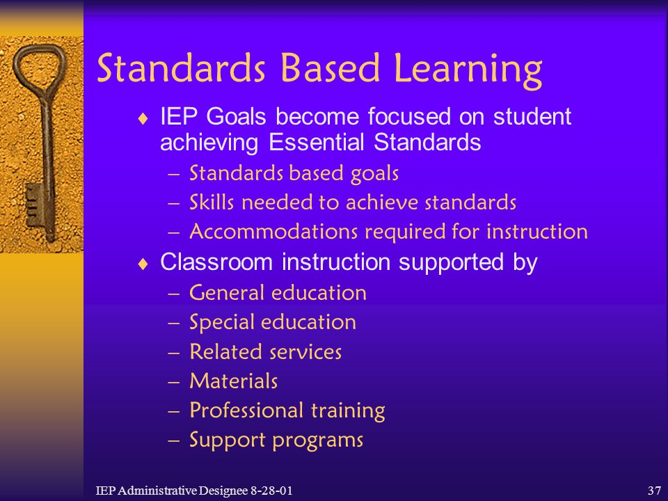 Standards Based Learning