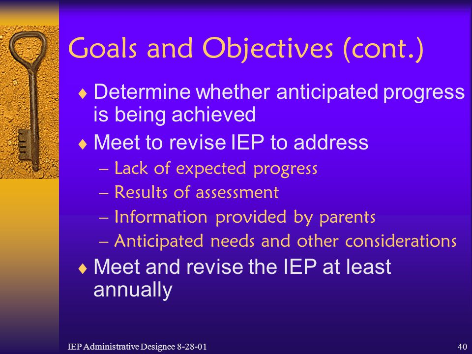Goals and Objectives (cont.)