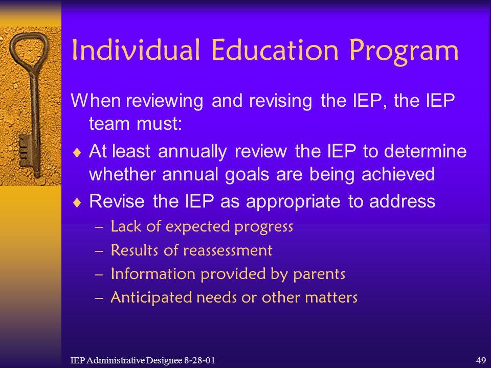 Individual Education Program