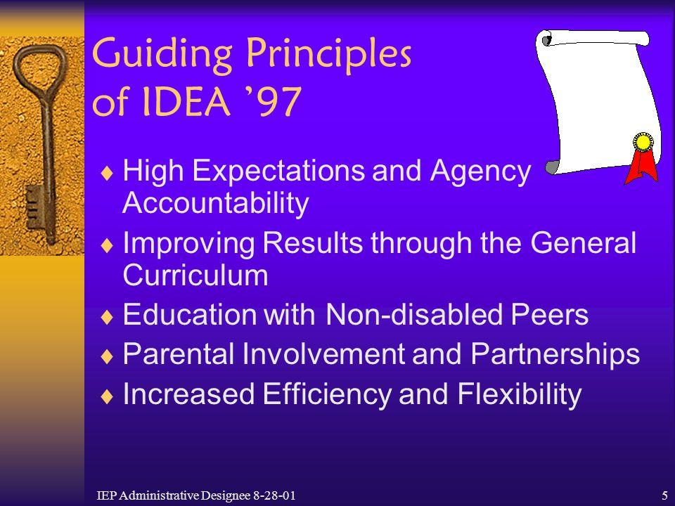 Guiding Principles of IDEA '97