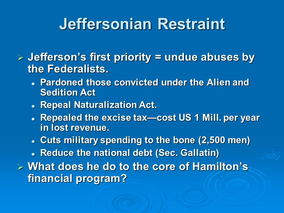 Jeffersonian Restraint