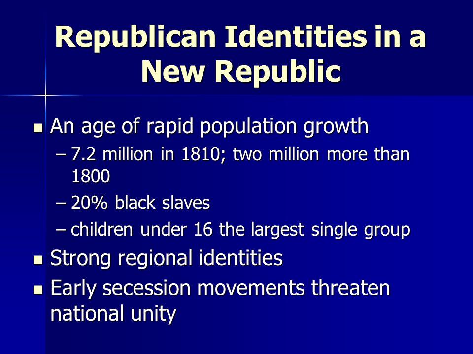 Republican Identities in a New Republic