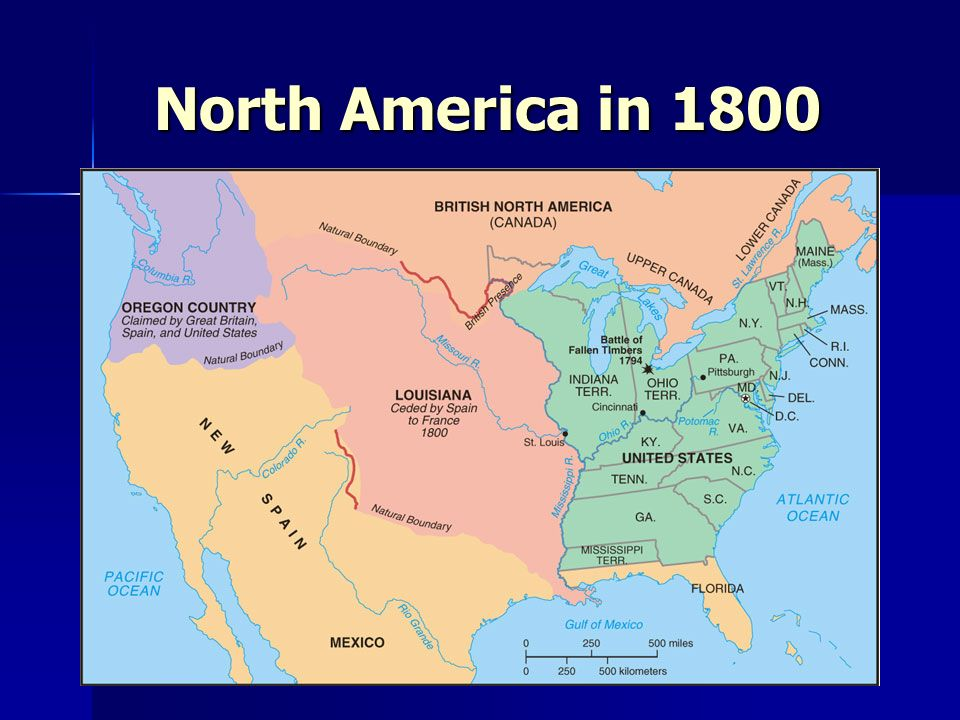 North America in 1800