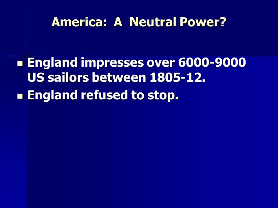 America: A Neutral Power