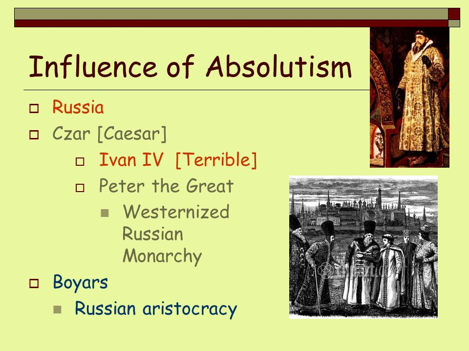 Influence of Absolutism