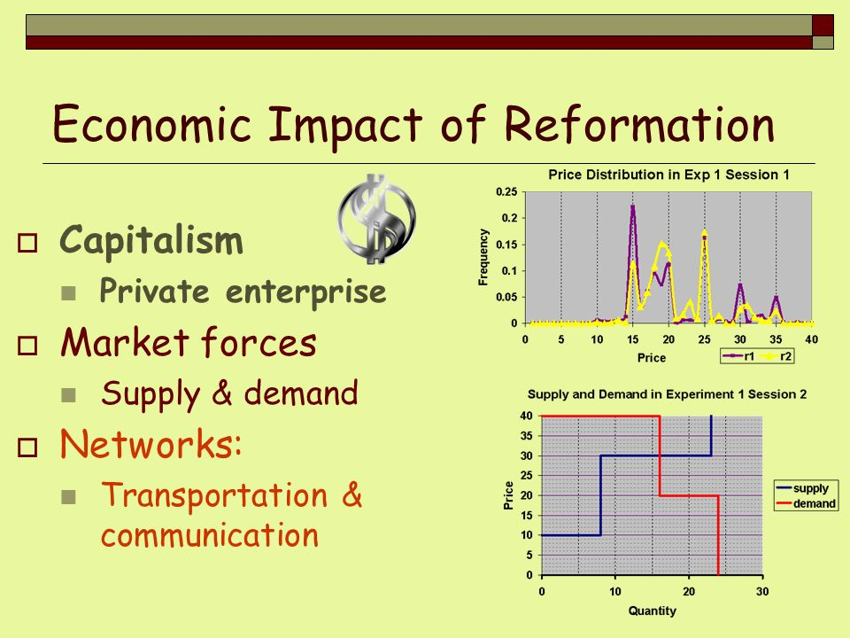 Economic Impact of Reformation
