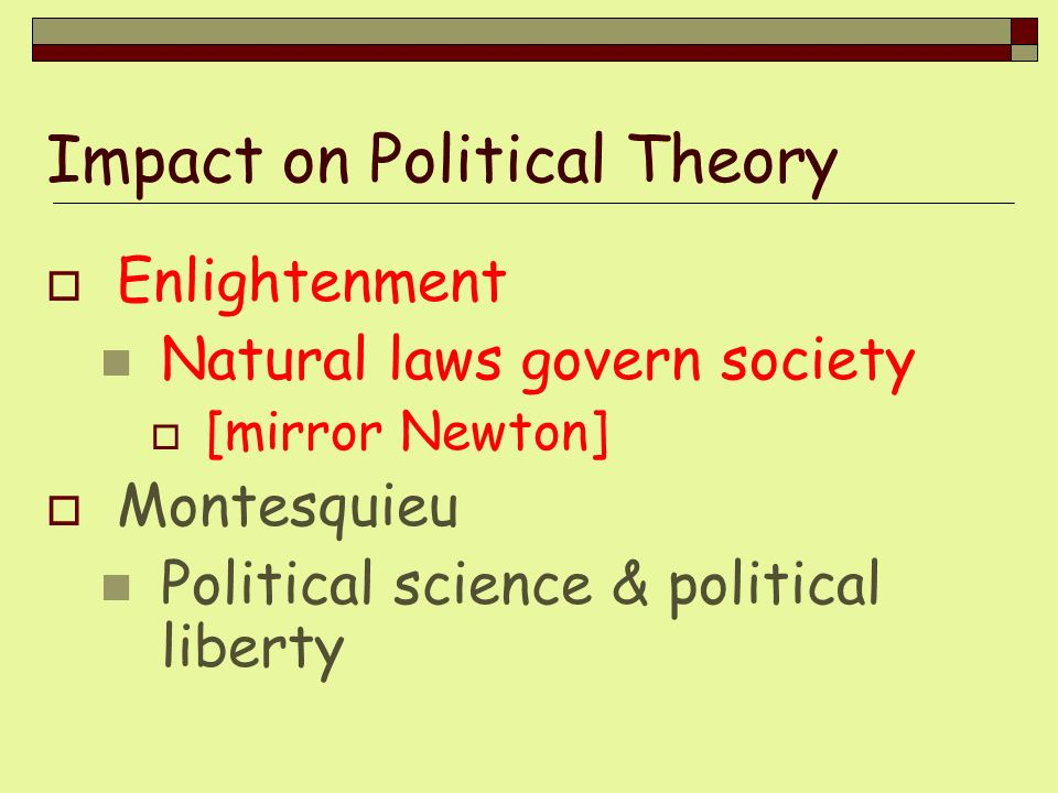 Impact on Political Theory