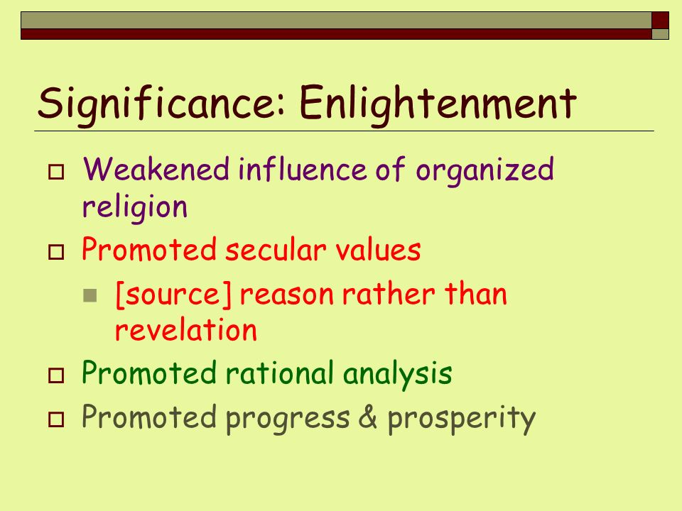 Significance: Enlightenment