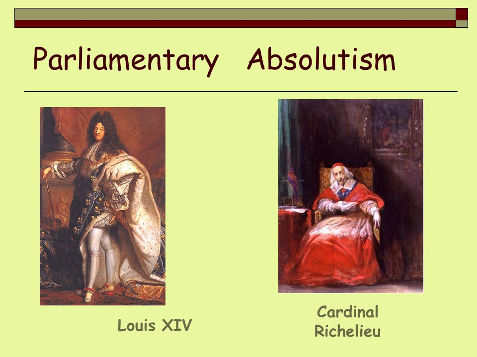 Parliamentary Absolutism