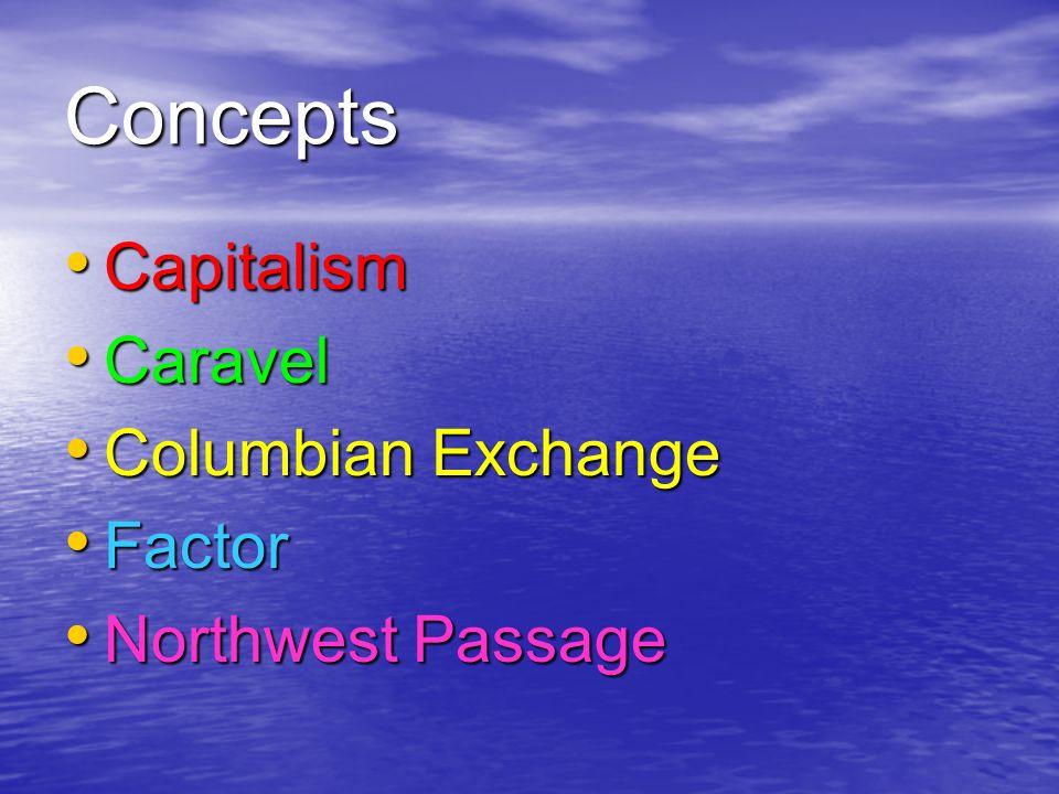 Concepts Capitalism Caravel Columbian Exchange Factor