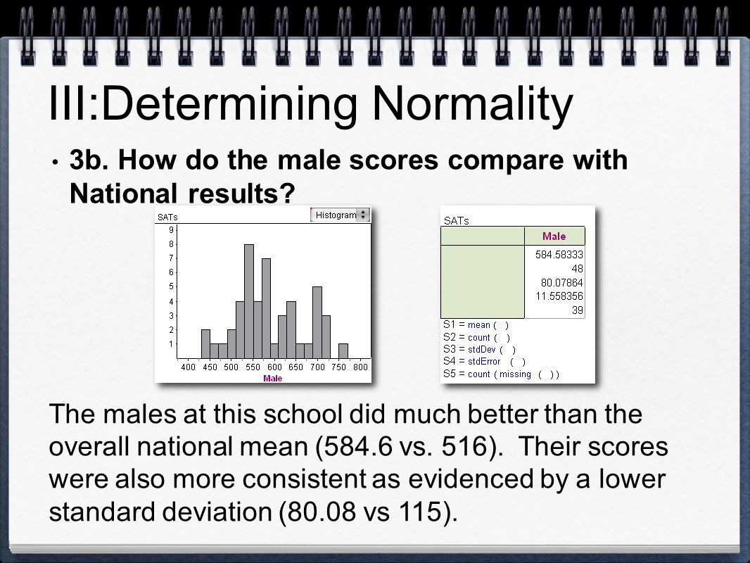 III:Determining Normality