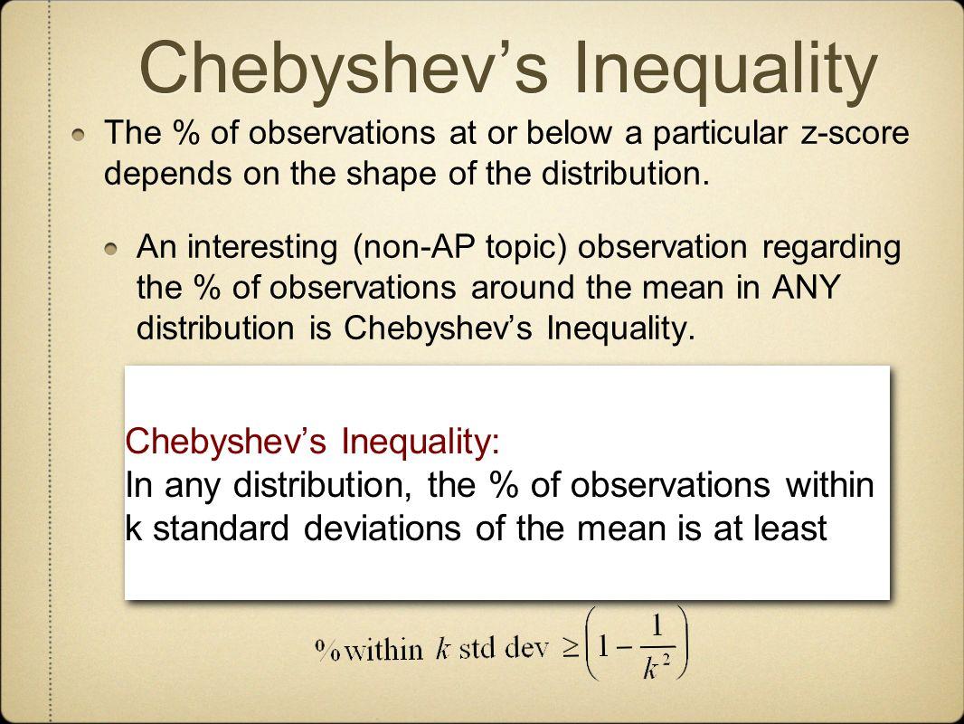 Chebyshev's Inequality