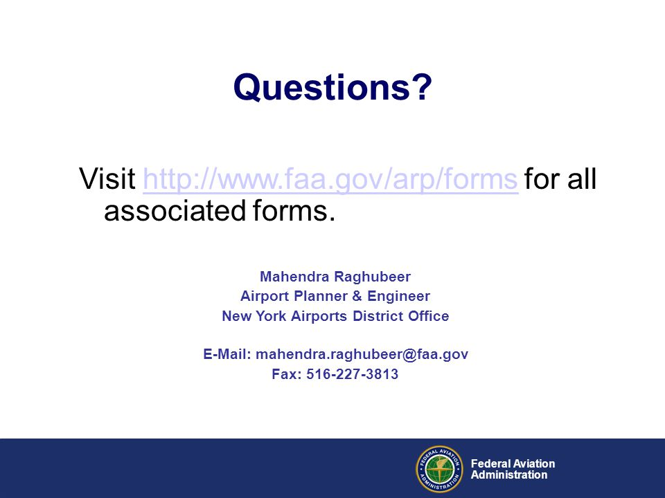 Airport Planner & Engineer New York Airports District Office