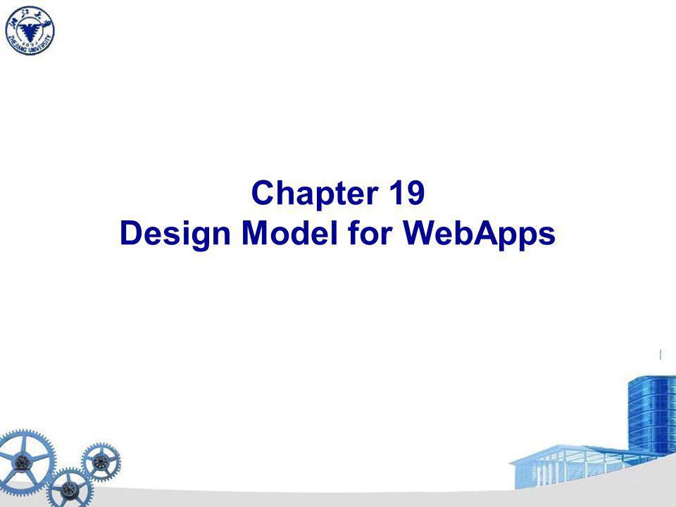 Chapter 19 Design Model for WebApps