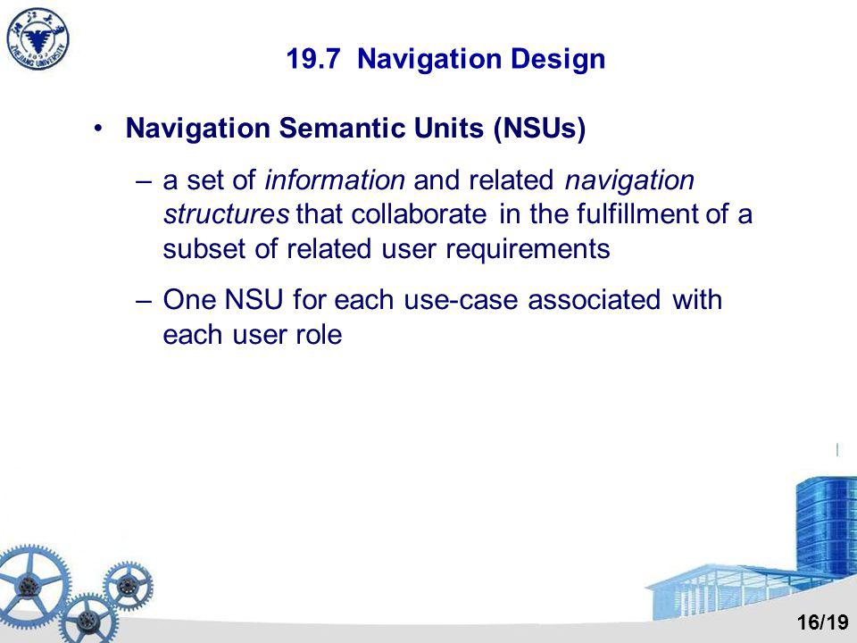Navigation Semantic Units (NSUs)