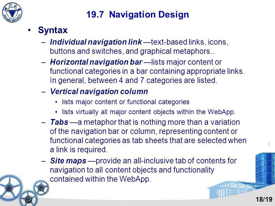 19.7 Navigation Design Syntax