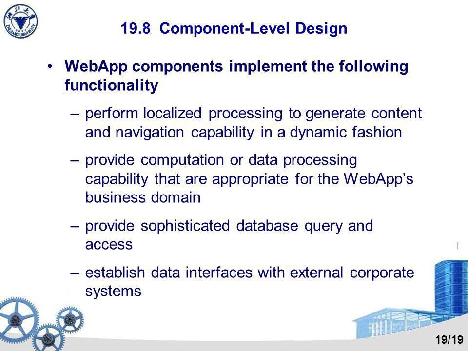 19.8 Component-Level Design